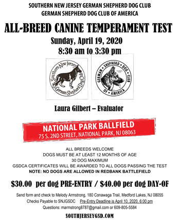 All Breed Canine Temperment Test