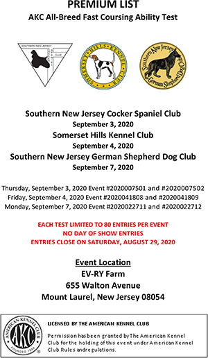 Fast Cat trials Sept 3rd, 4th, 7th